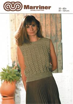 M0578 Sleeveless Sweater in Fan Shell in Dk