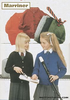 ME411 V and Round Neck School Cardigans