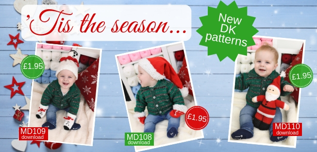 Marriner Yarns | NEW Christmas Baby DK knitting patterns | Download for only �1.95