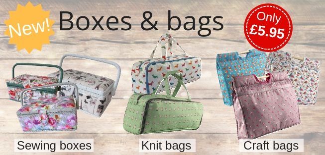 Marriner Yarns | New sewing boxes, knitting bags and craft bags | Only �5.95