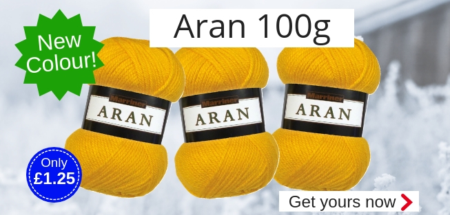Marriner Yarns | New Mustard colour in Aran 100g | Only �1.25