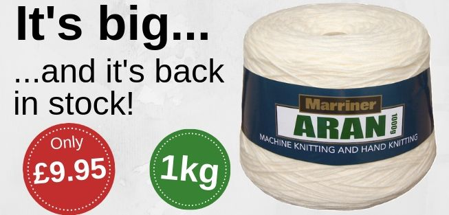 Aran 1000g cone | Back in stock | Only £9.95