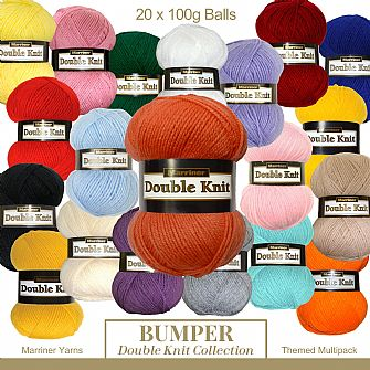 Marriner DK Bumper pack 20 X 100g Crochet & knitting Yarn