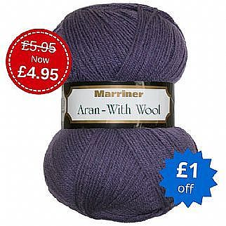 Marriner Aran with British Wool 400g