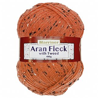 Marriner Aran Fleck with Tweed 400g