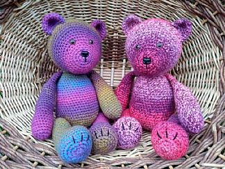 Made with Marriners | Bears in Hermitage yarn by Lizzy Griffin